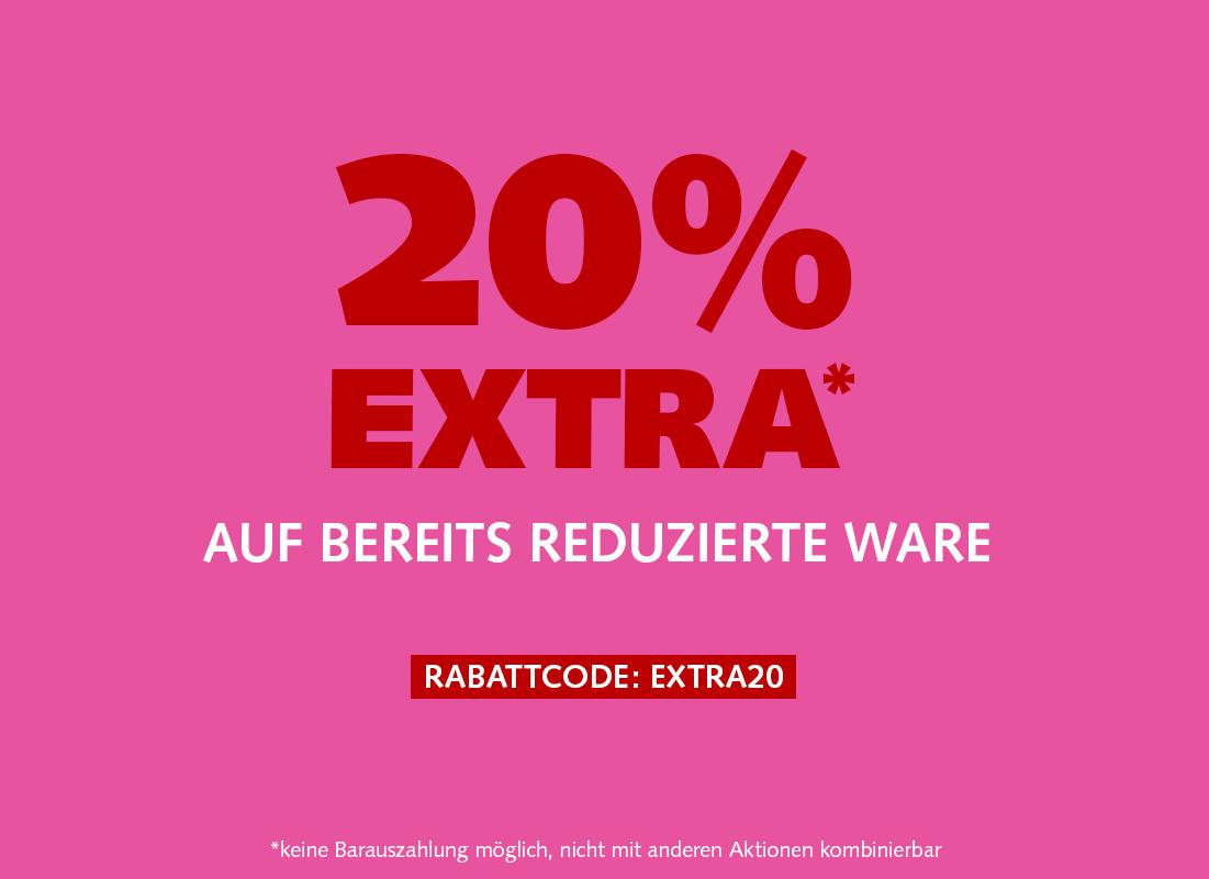 20% Extra im Sale