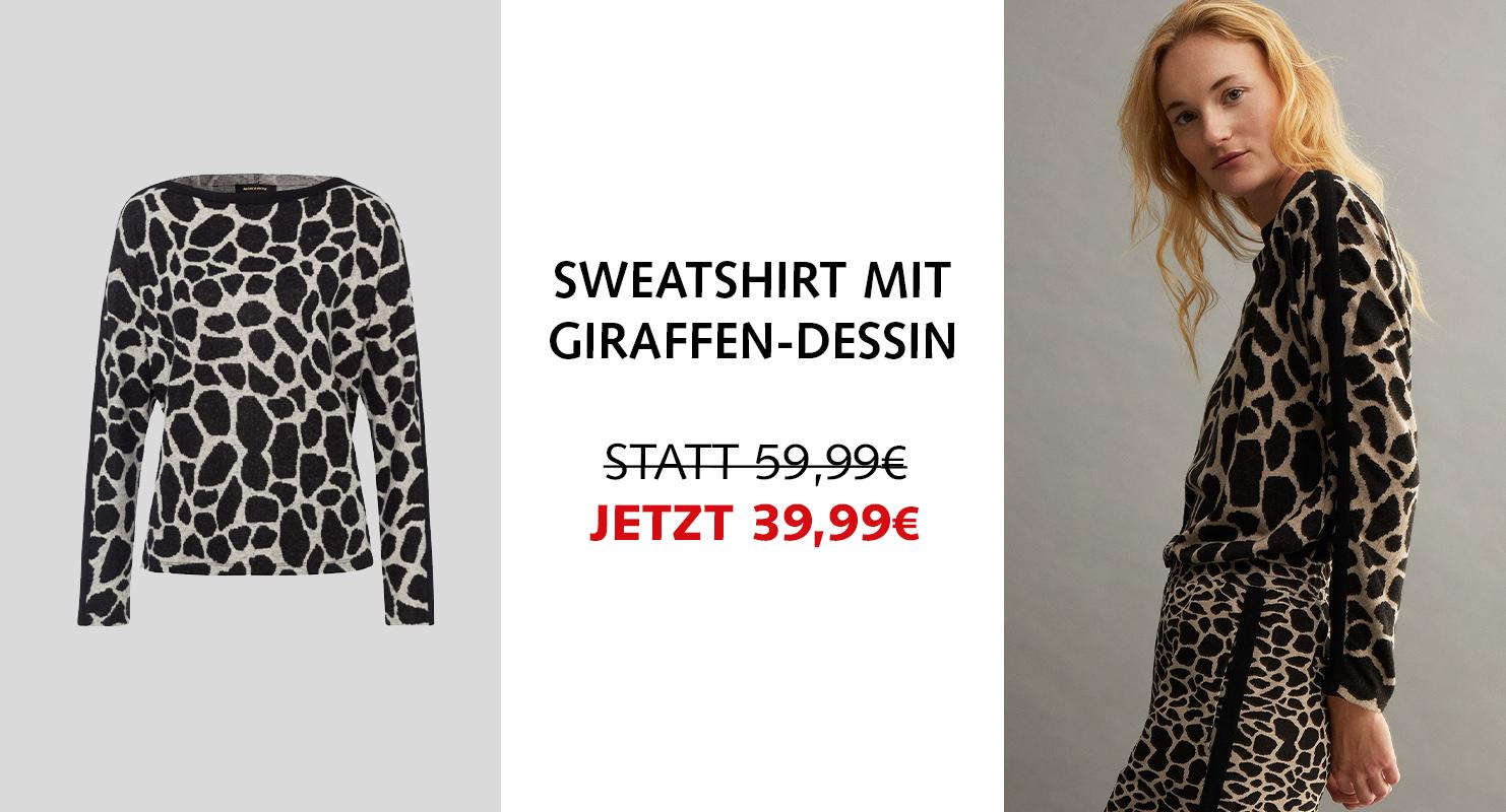 Sweatshirt mit Giraffen-Dessin