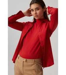 Businessbluse, autumn red 01102572-0545
