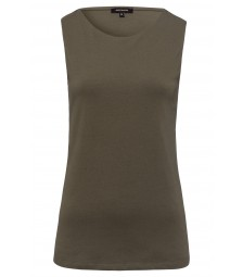 Baumwoll/Stretch Top, khaki