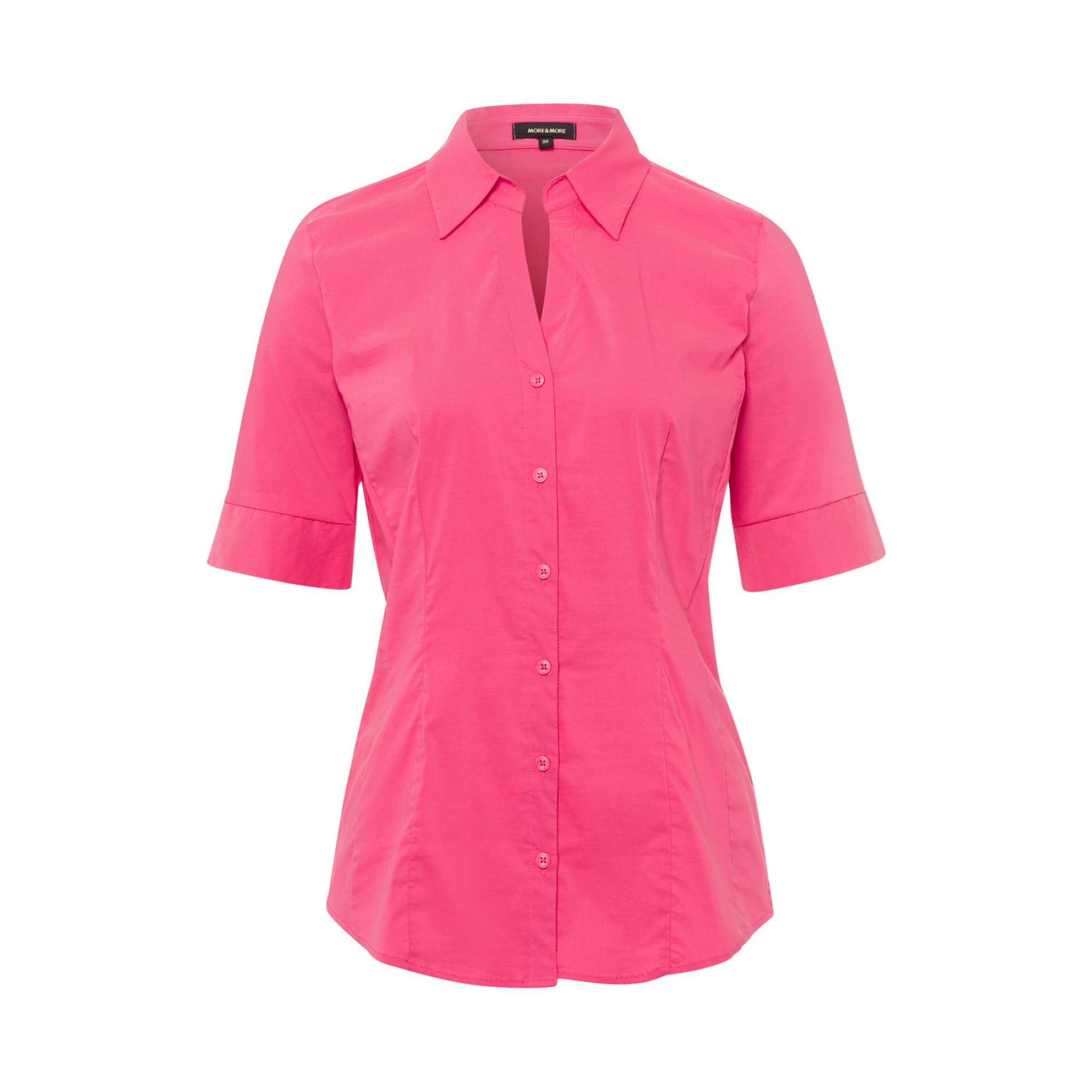 Baumwoll/Stretch Bluse, pink berry 11042566-0831 1