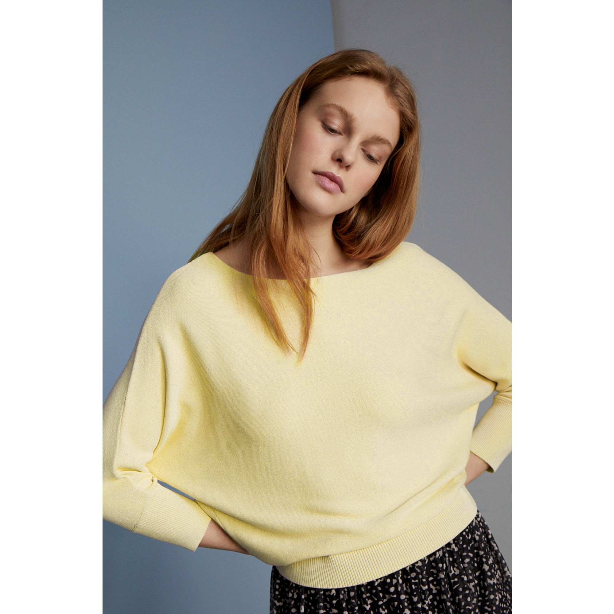Fledermaus-Pullover, pastel yellow 11821549-0128