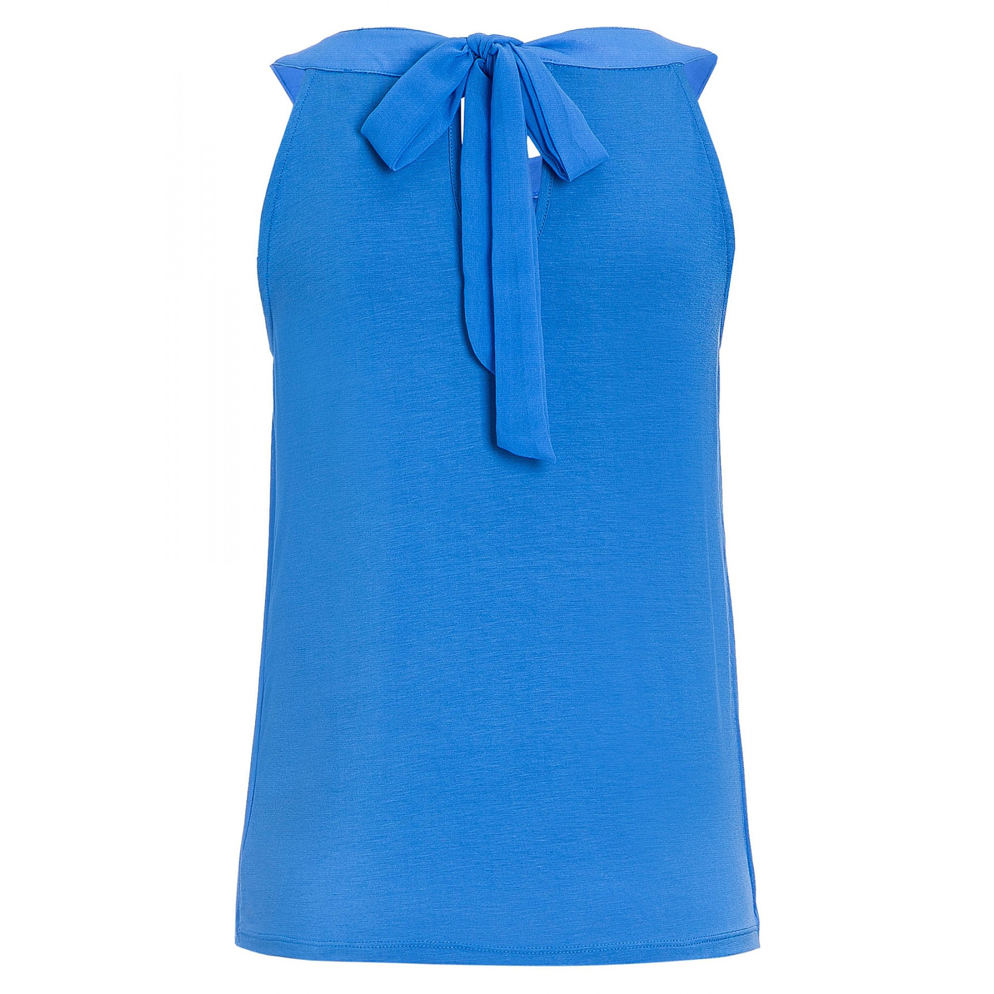 Top mit Chiffonfront, pacific blue 71050022-0345 2