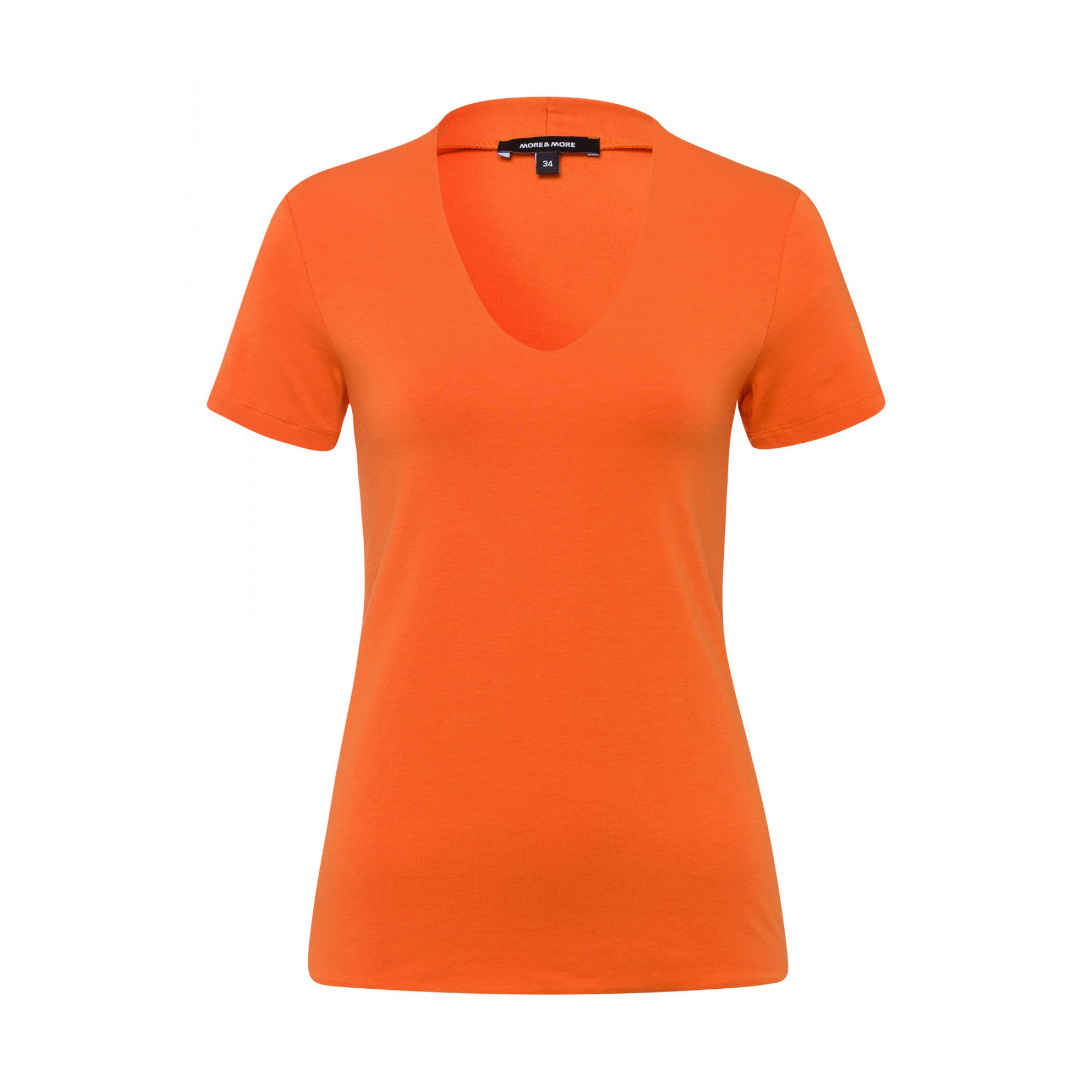T-Shirt, Baumwolle/Modal, orange 81960082-0431 1