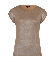 Glanz-Pullover, camel/silber